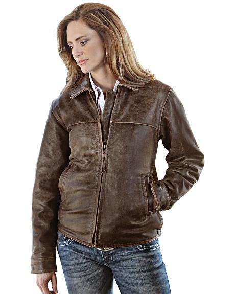 STS Ranchwear Women's Rifleman Brown Leather Jacket