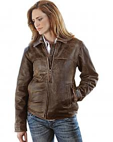 STS Ranchwear Women's Rifleman Brown Leather Jacket - Plus - 2XL
