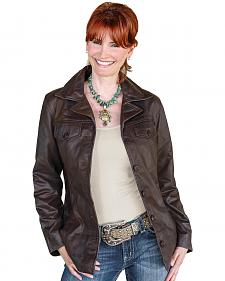 STS Ranchwear Women's Selah Brown Leather Jacket