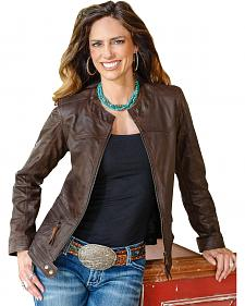 STS Ranchwear Women's Douglas Brown Leather Jacket - Plus - 2XL