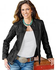STS Ranchwear Women's Douglas Black Leather Jacket - Plus - 2XL