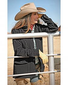 STS Ranchwear Women's Brazos Softshell Black Barn Jacket