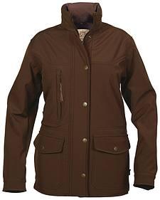 STS Ranchwear Women's Brazos Softshell Brown Barn Jacket