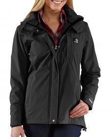 Carhartt Waterproof Black Cascade Jacket