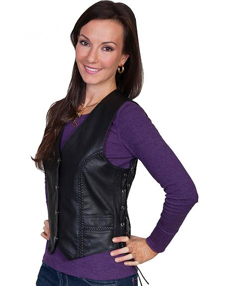 Scully Laced Leather Vest
