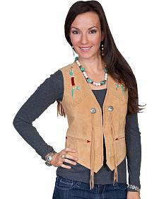 Scully Beaded Fringe Suede Vest