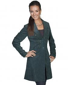Scully Embroidered Boar Suede Long Coat