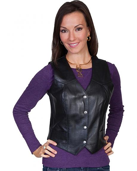 Scully Western Lamb Leather Vest