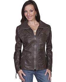 Scully Zip-Up Lamb Jacket