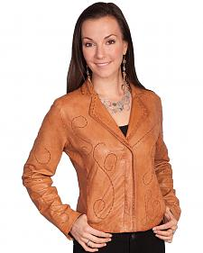 Scully Whip Stitch Lamb Jacket