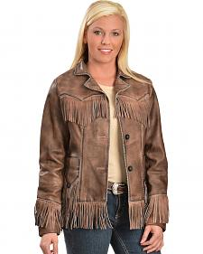 Scully Lamb Leather Fringe Jacket