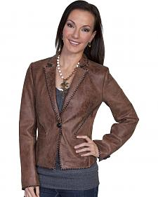 Scully Lamb Leather Whip Stitch Jacket