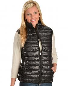 China Leather Womens' Quilted Puffy Vest
