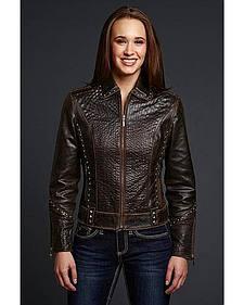 Cripple Creek Studded Leather Jacket