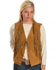Red Ranch Women's Suede Fringe Vest
