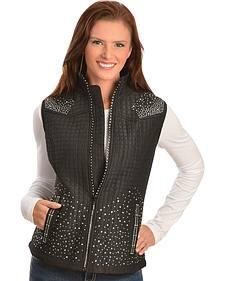 Kaktus Sportswear Women's Studded Quilted Vest