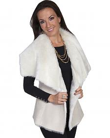 Scully Women's Cream Faux Fur Vest