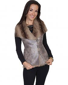 Scully Women's Brown Faux Fur & Suede Vest