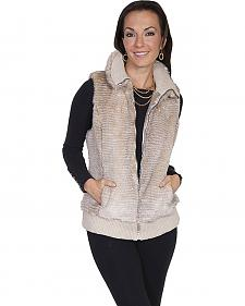 Scully Women's Sand Faux Fur Zip Vest