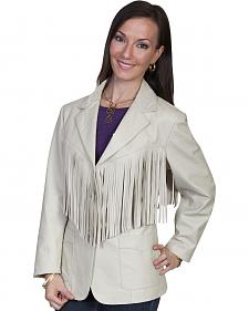 Scully Women's Lamb Leather Fringe Jacket