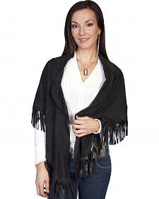 Scully Women's Lamb Suede Shawl