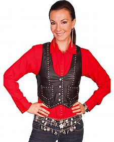 Scully Women's Studded Lamb Leather Vest