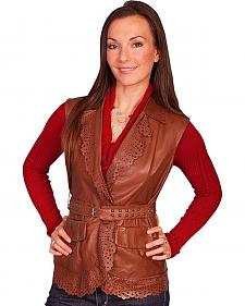 Scully Women's Perforated Lamb Leather Vest