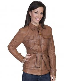 Scully Women's Belted Lamb Leather Jacket