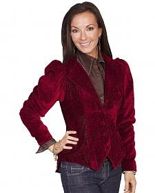 WahMaker by Scully Women's Embossed Velvet Coat