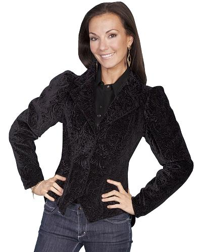 WahMaker by Scully Womens Embossed Velvet Coat $224.00 AT vintagedancer.com