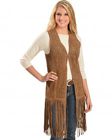 Scully Long Suede Fringe Vest