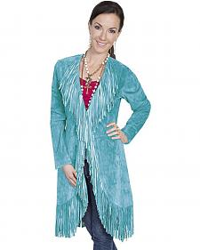 Scully Boar Suede Fringed Maxi Coat