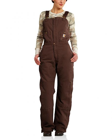 Carhartt Women's Quilted Lined Double Knee Zeeland Bib Overalls