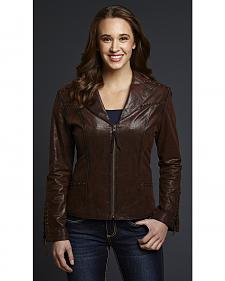 Cripple Creek Studded and Hand-Laced Leather Jacket