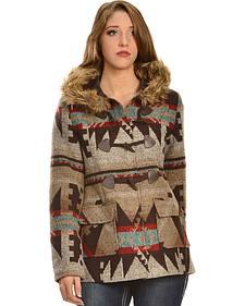 Red Ranch Women's Aztec Fur Collar Jacket