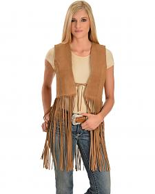 Red Ranch Women's Long Suede Fringe Vest