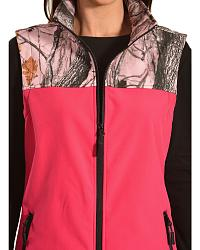 Red Ranch Hot Pink Camo Bonded Vest at Sheplers
