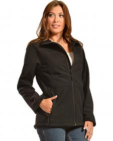 Red Ranch Women's Embroidered Black Bonded Jacket