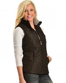Jane Ashley Women's Fleece Collar Quilted Vest