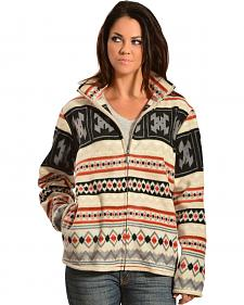 Jane Ashley Sherpa-Lined Aztec Fleece Jacket