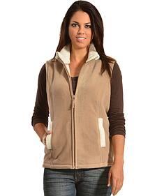 Jane Ashley Sherpa Fleece Vest