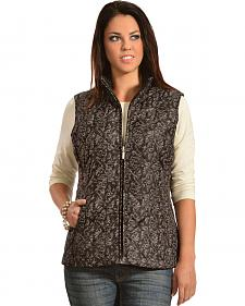 Jane Ashley Women's Quilted Floral Vest