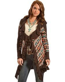 Powder River Outfitters Women's Ruffle Knit Cardigan