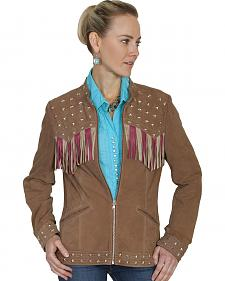 Scully Fringe Flag Lamb Suede Jacket