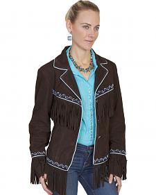 Scully Women's Embroidered Fringe Suede Jacket