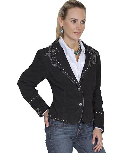 Scully Womens Bootstitch Boar Suede Jacket $226.99 AT vintagedancer.com