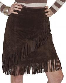 Scully Short Fringe Boar Suede Skirt