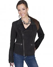 Scully Leatherwear Suede Cross Motorcycle Jacket