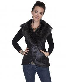 Scully Women's Honey Creek Black Faux Fur Vest