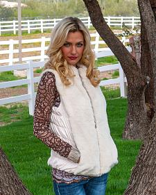 Scully Honey Creek Reversible Faux Fur Vest